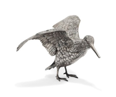 A GERMAN SILVER SNIPE TABLE OR