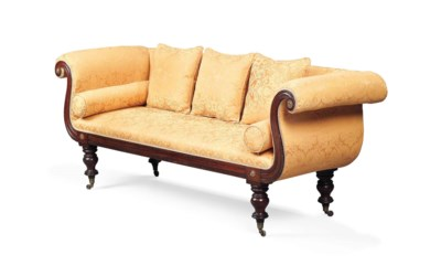 A WILLIAM IV MAHOGANY SOFA