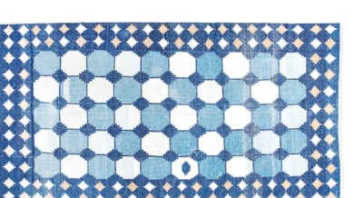 AN INDIAN INDIGO AND WHITE 'TI