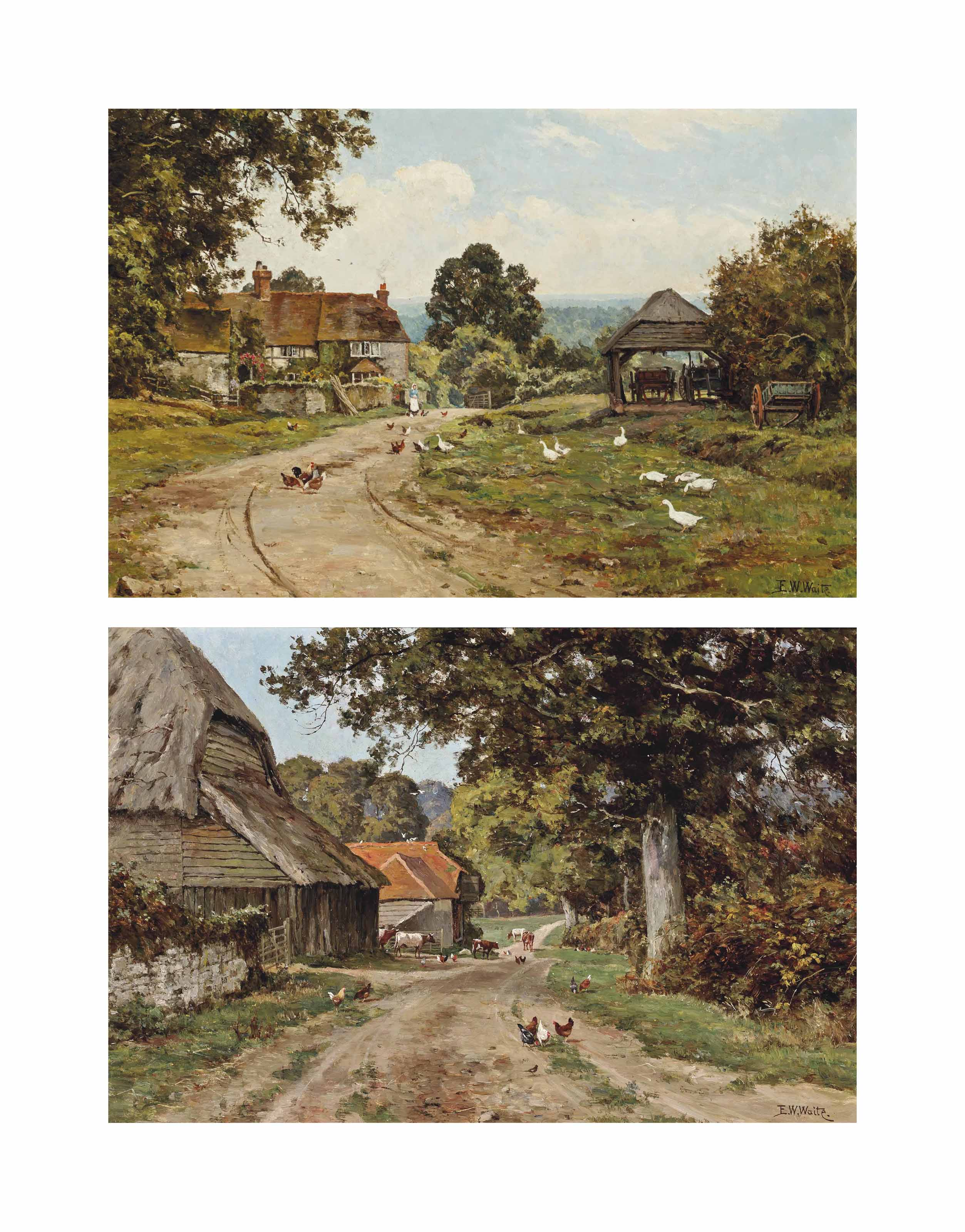 A Sussex farm; and Limborne Farm, Sussex (both illustrated)