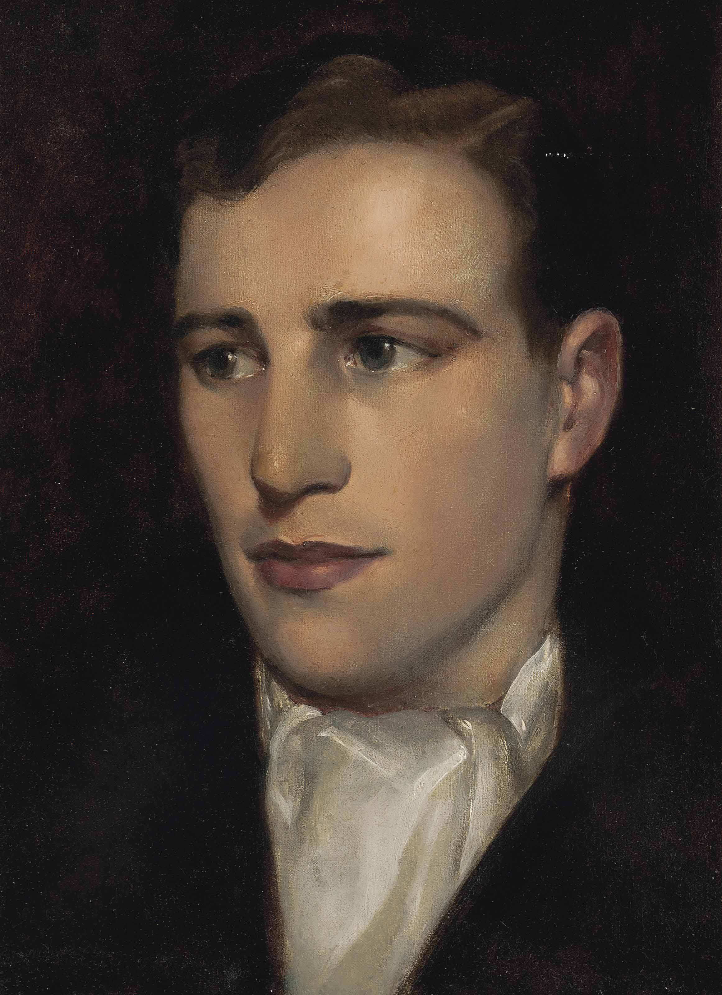 Portrait of the Rt. Rev. Eustace Anthony Morrogh Bernard (1893-1972), bust-length, wearing a white cravat