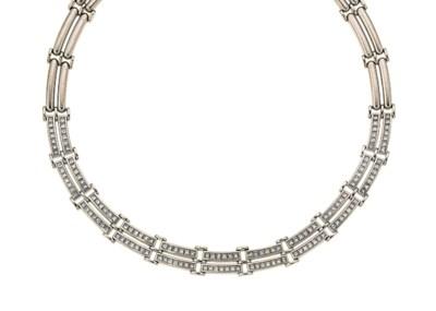 A diamond-set necklace, by Adl