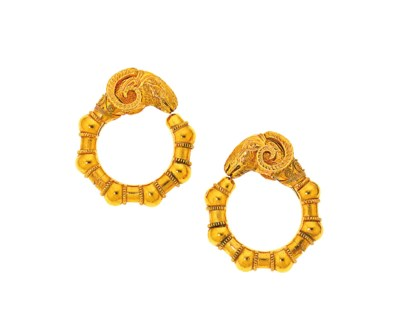 A pair of earrings, by Lalaoun