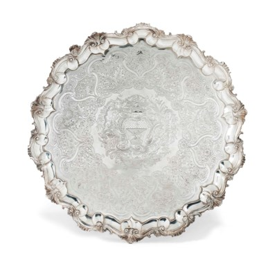 A LARGE GEORGE IV SILVER SALVE