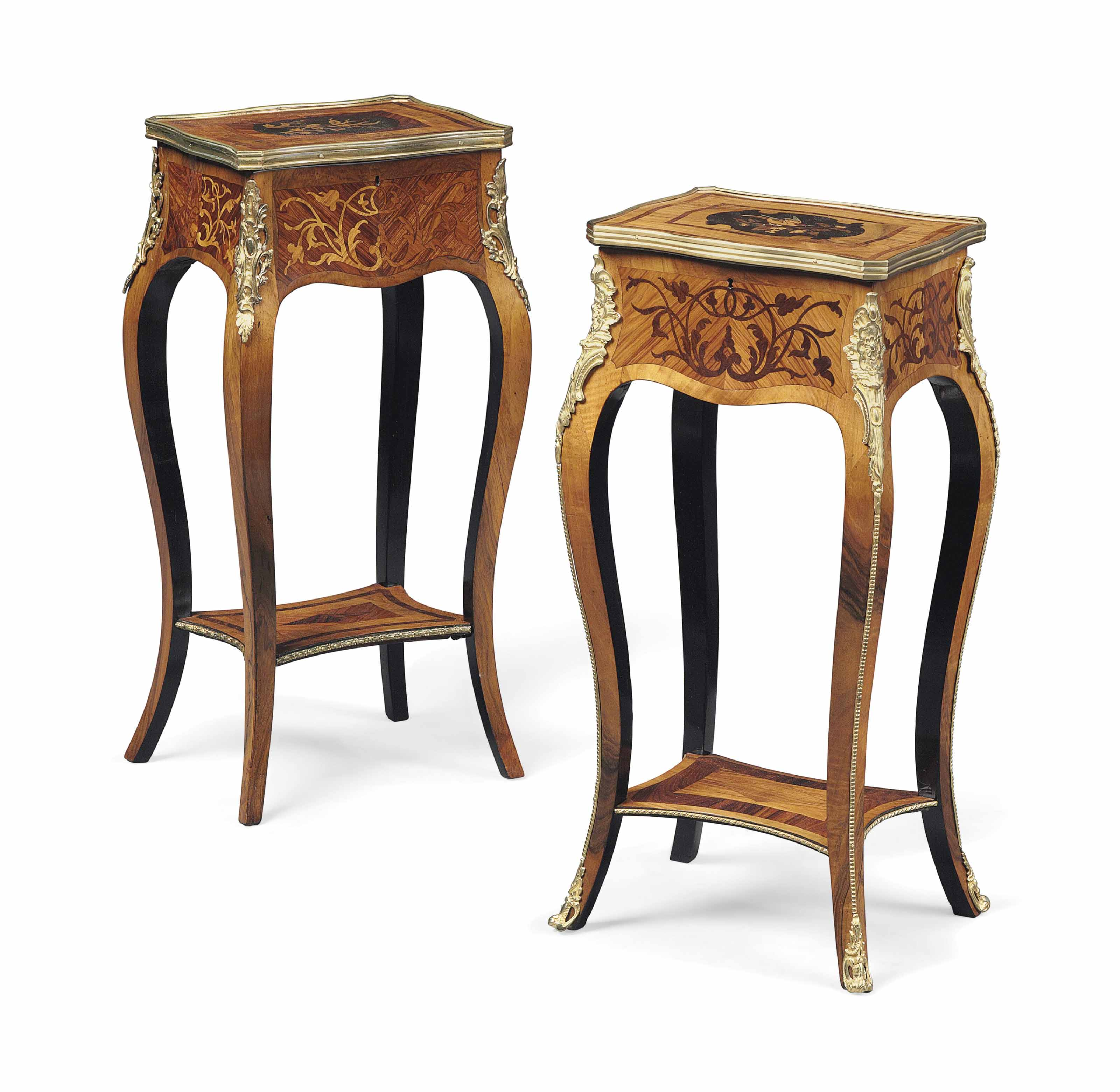 A MATCHED PAIR OF GILT-METAL M