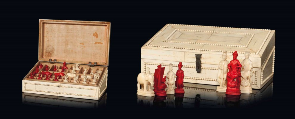 A RUSSIAN WALRUS IVORY CHESS S