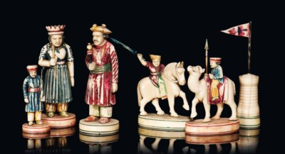 AN ANGLO-INDIAN POLYCHROME IVO