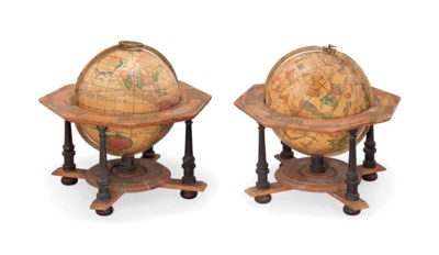 A PAIR OF 8-INCH GERMAN TABLE