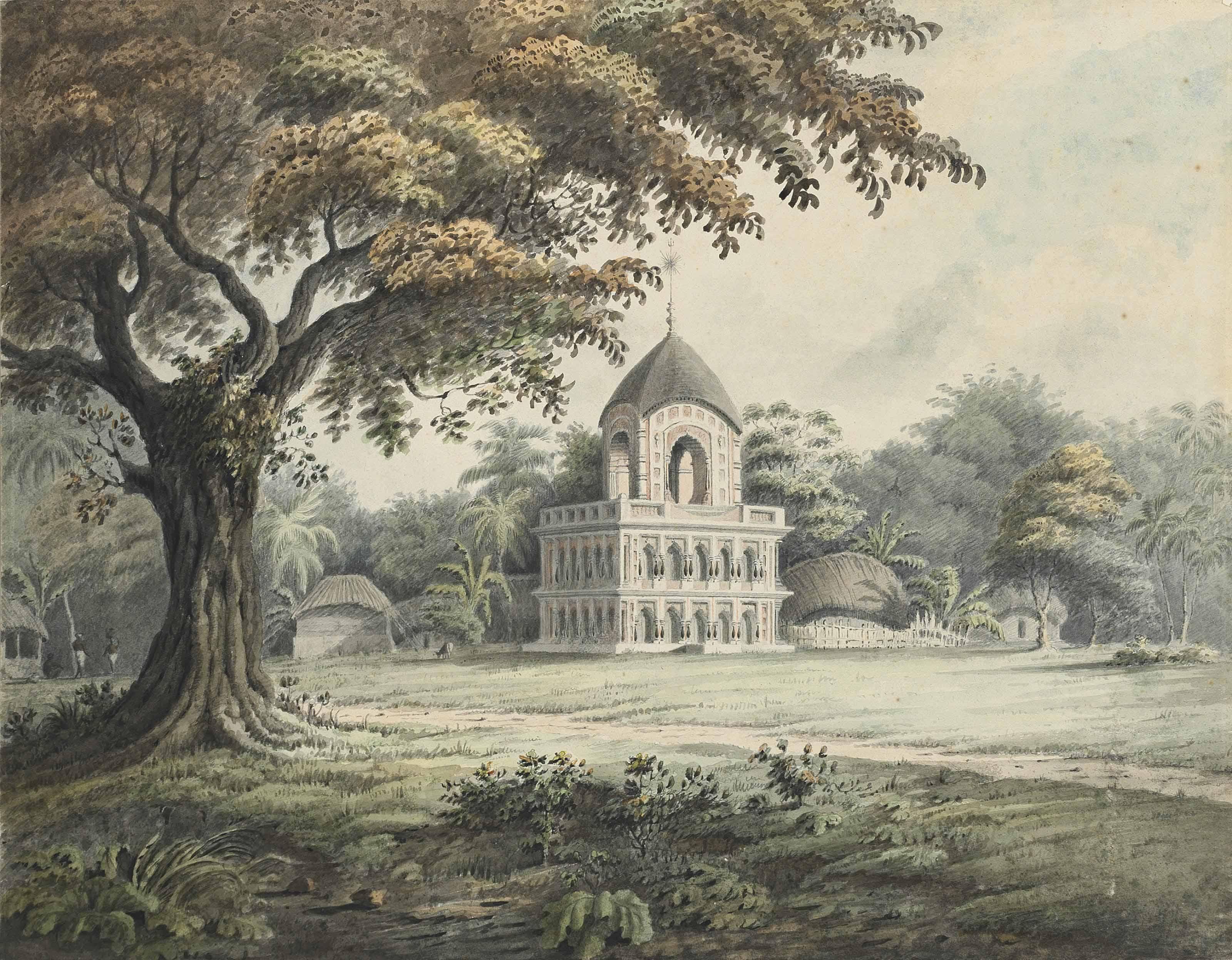 A Hindu temple at Barripore, near Calcutta