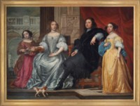 A family portrait, in an interior