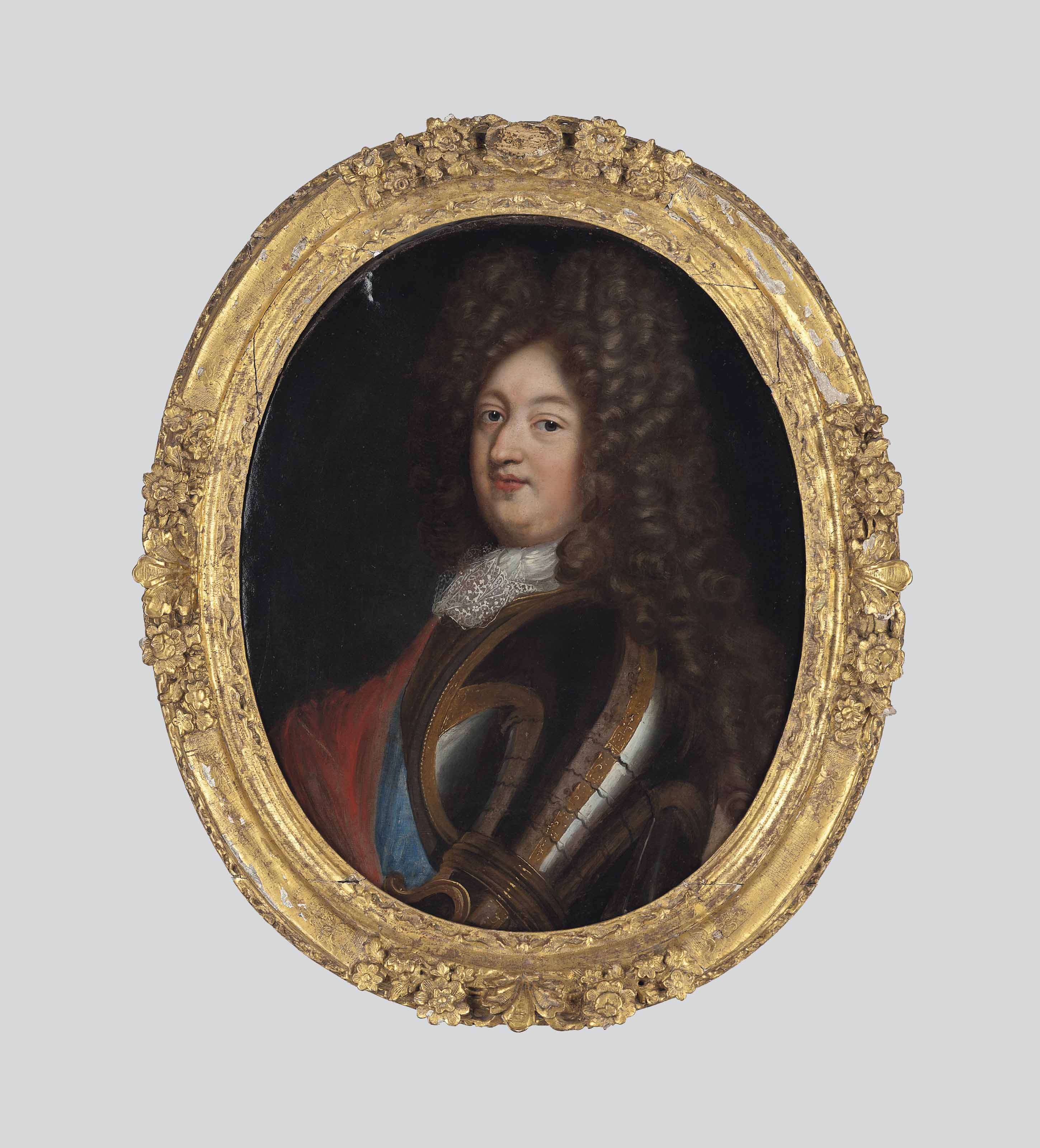 Portrait of Louis of France, Grand Dauphin (1661-1711), half-length, in armour