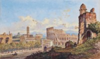 The Colosseum, Rome (illustrated); Figures before the Forum, Rome; and Castel Sant'Angelo and St. Peter's viewed from across the Tiber