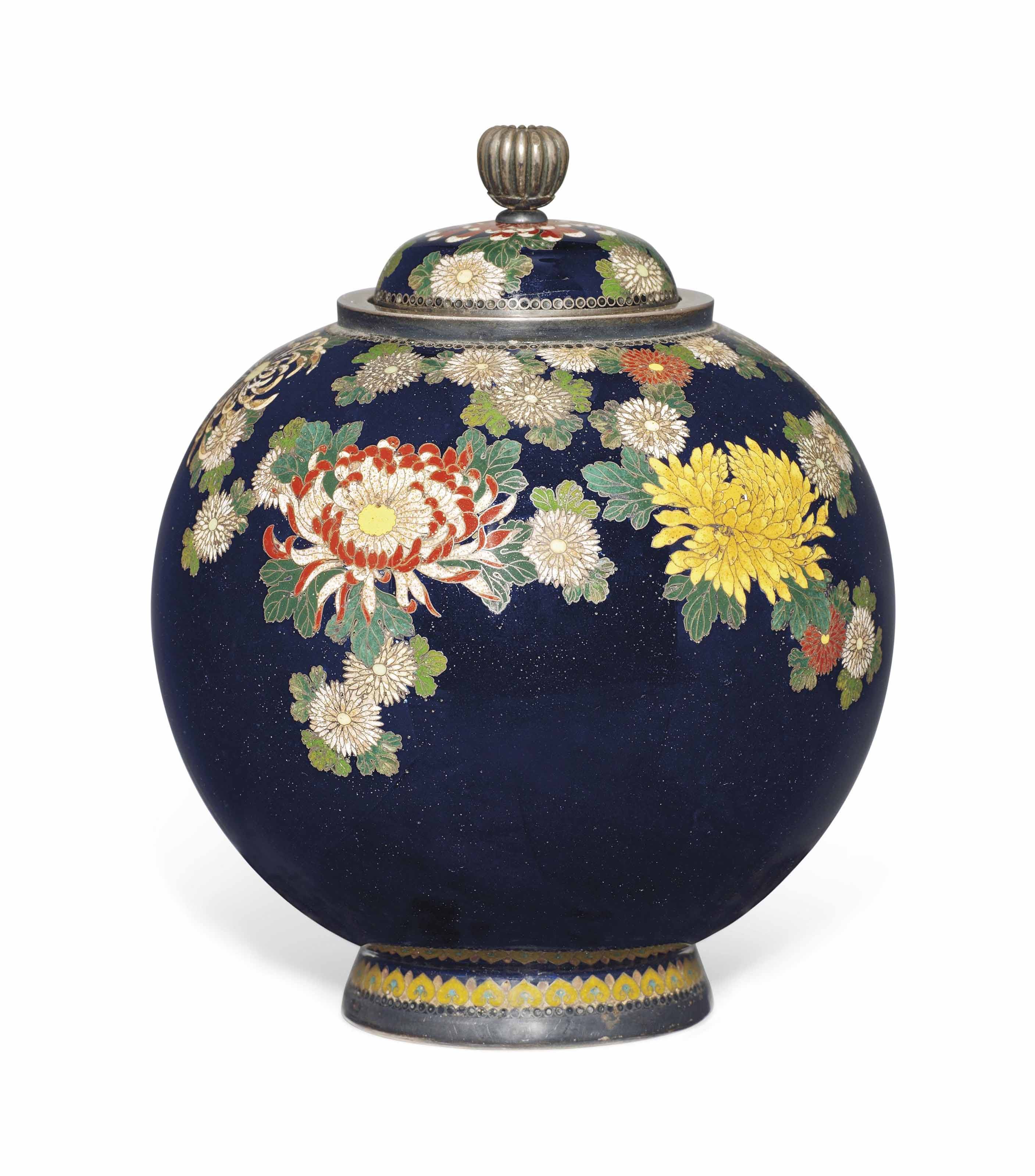 A Cloisonné Vase and Cover