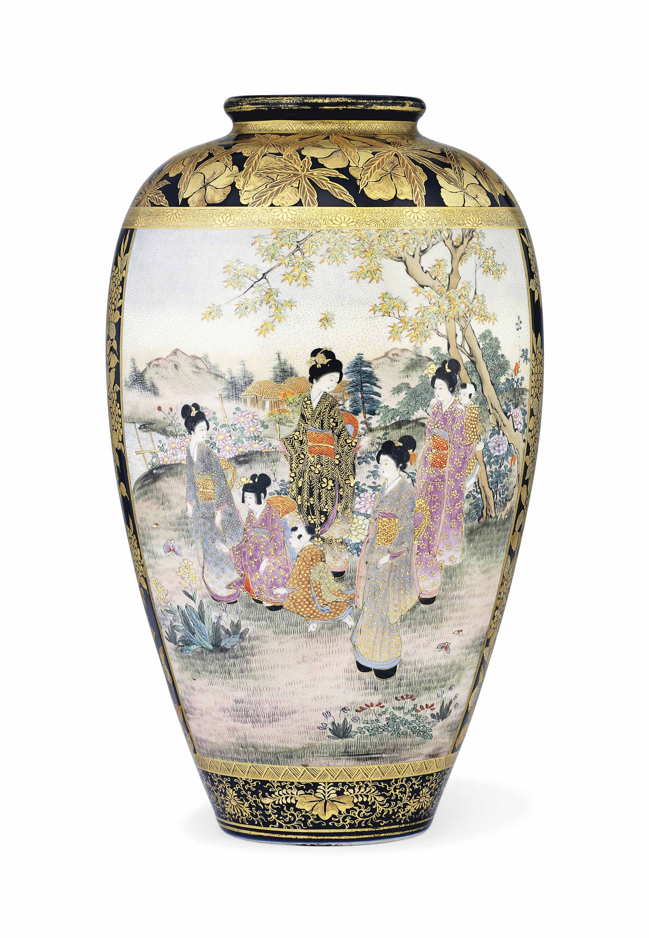 A Satsuma Vase Signed Kozan Minami Cho Meiji Period Late 19th Century Christie S