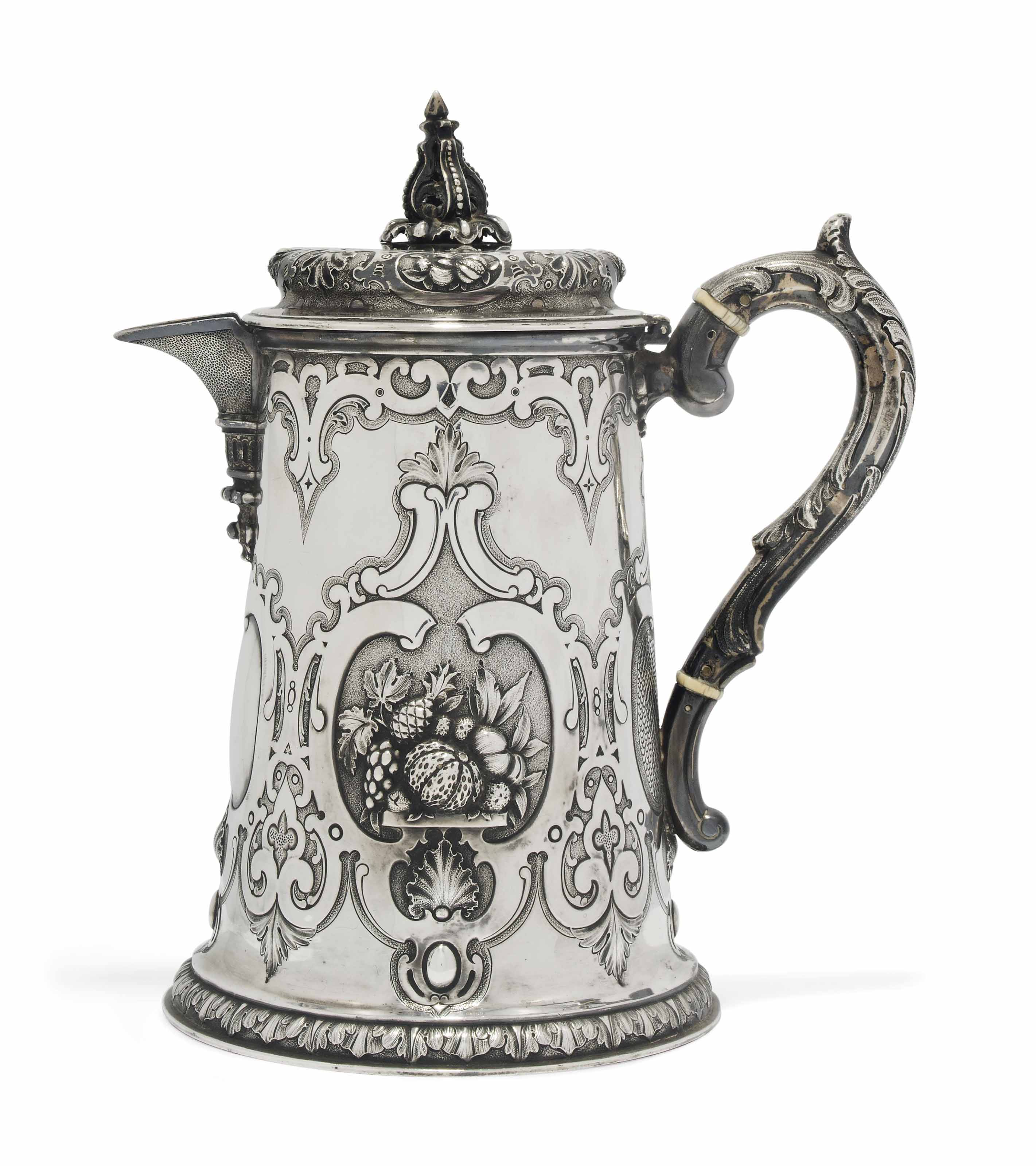 A VICTORIAN SCOTTISH SILVER JUG