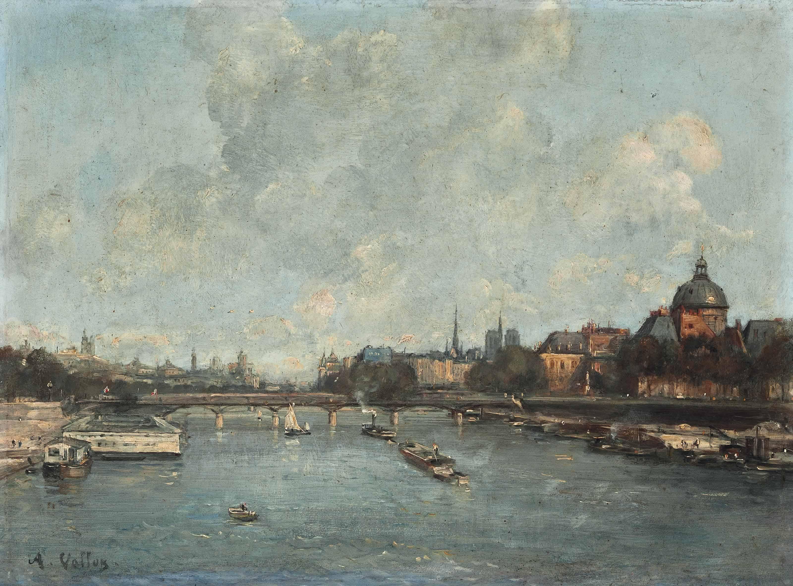 The river Seine at the Pont des Arts, Paris