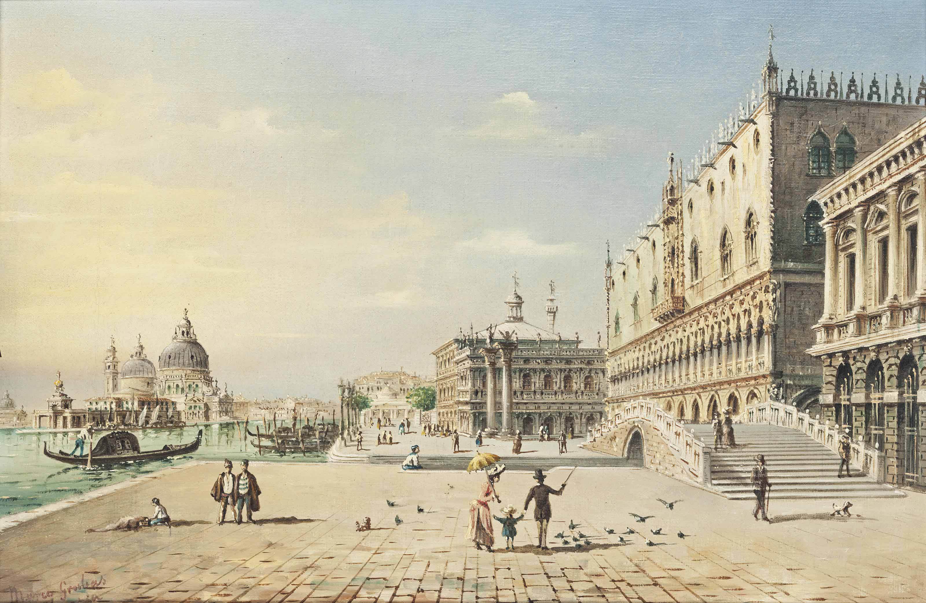 Tourists on the Riva degli Schiavoni, Venice