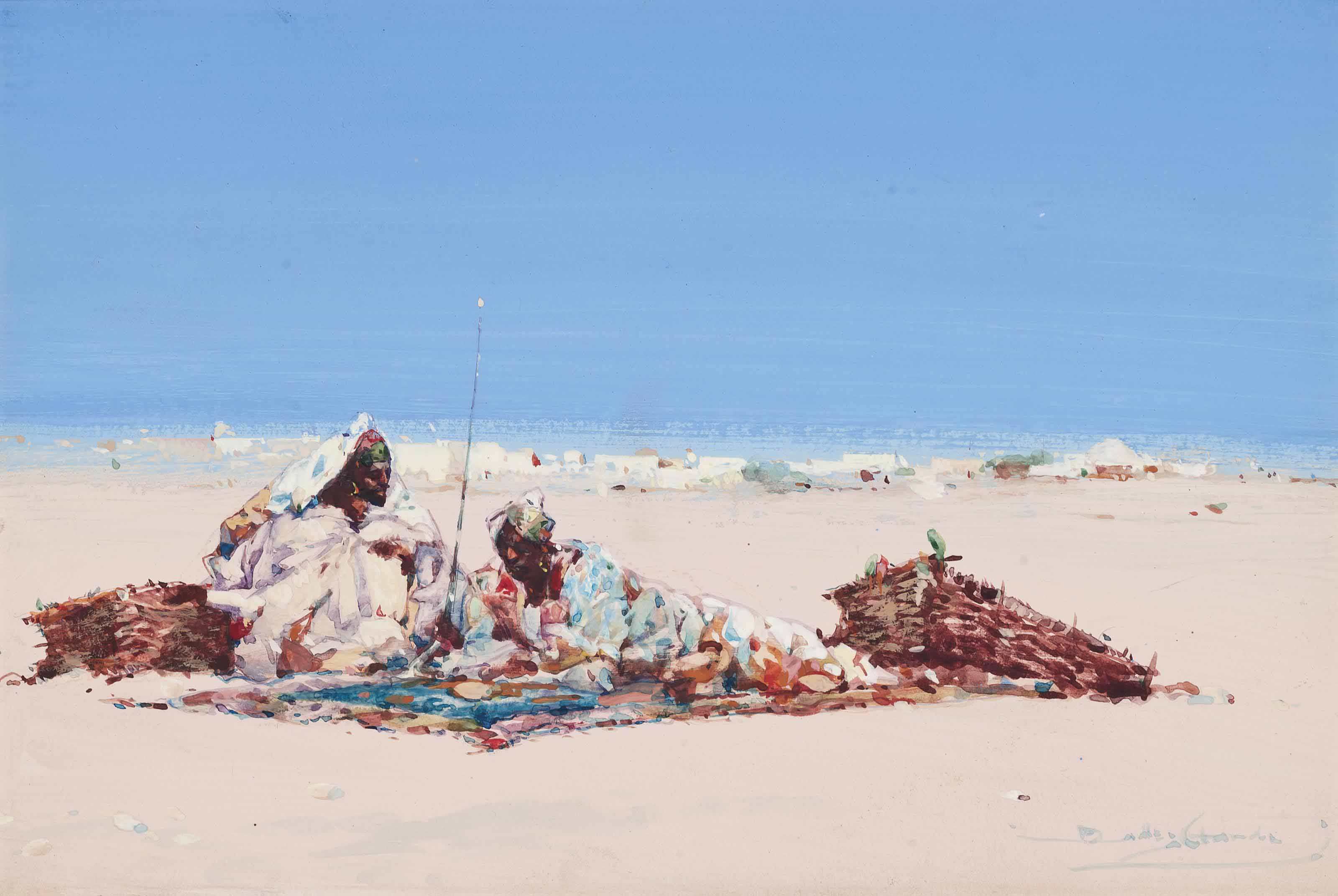 Traders in the desert