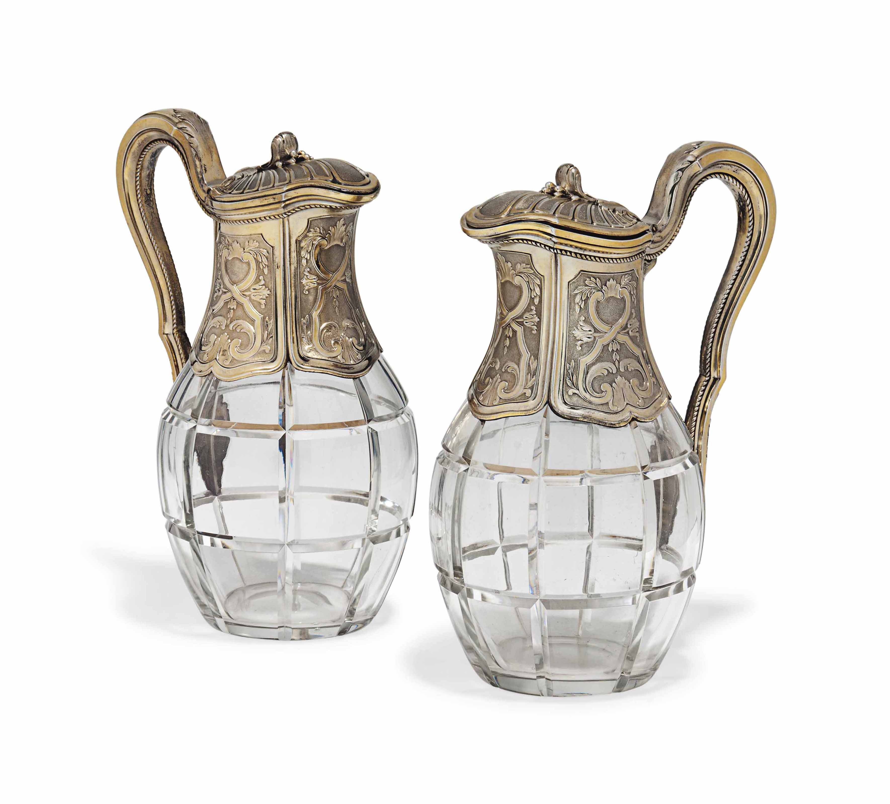 A PAIR OF FRENCH SILVER-GILT M