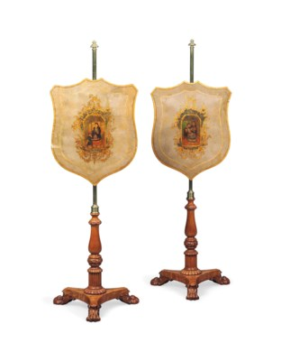 A PAIR OF WILLIAM IV CARVED SA