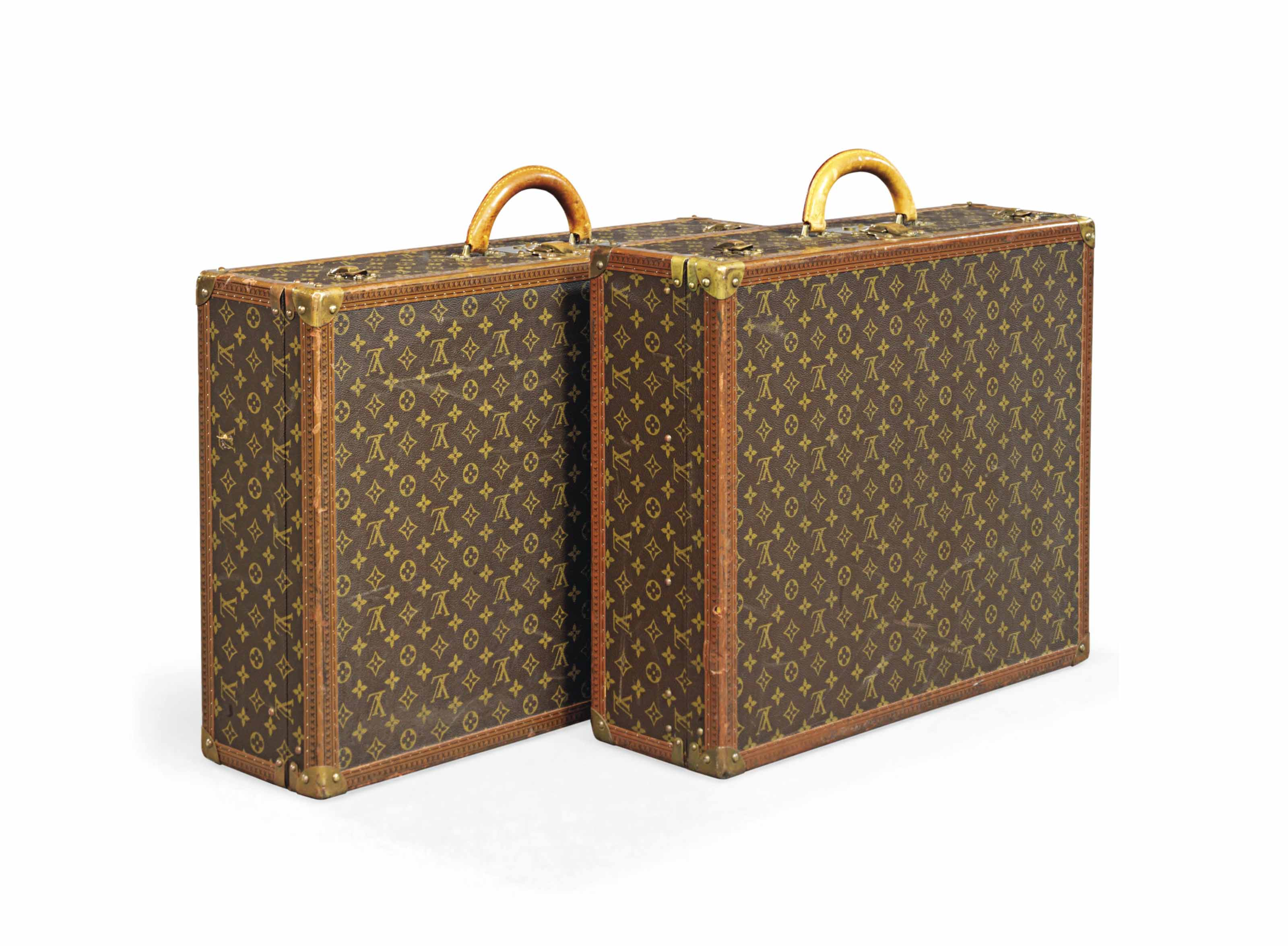 TWO ALZER SUITCASES IN MONOGRA
