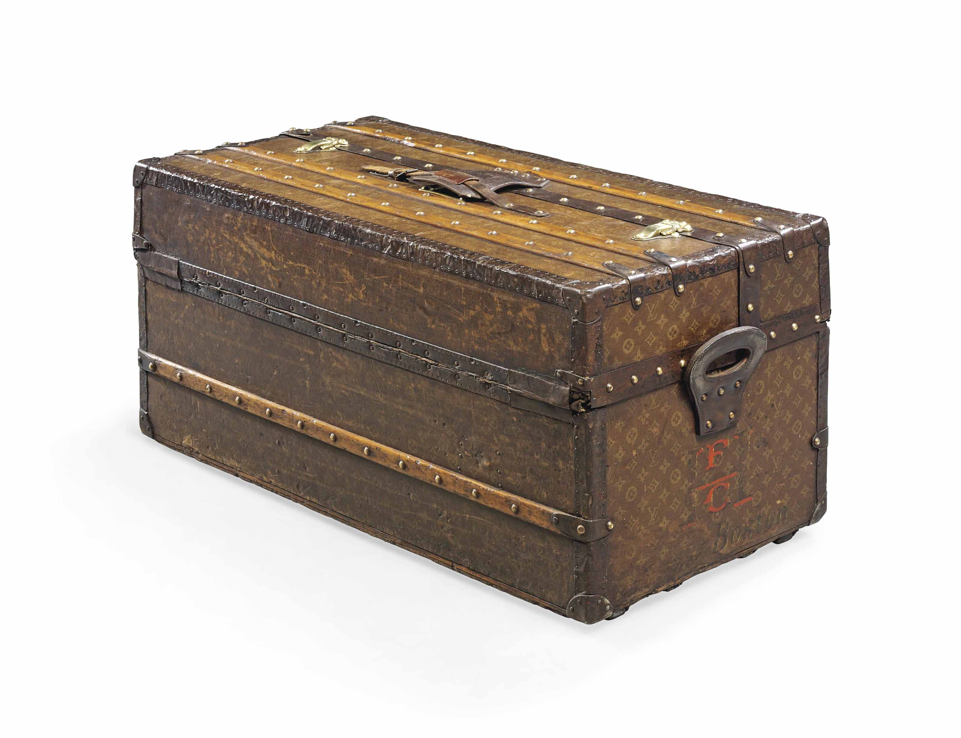 AN IDEAL TRUNK IN MONOGRAM CAN