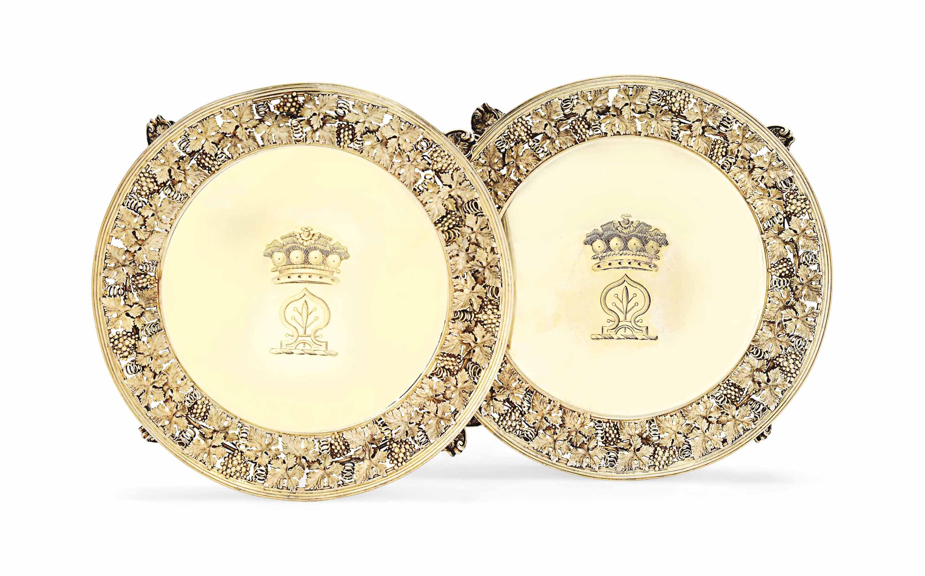 A PAIR OF WILLIAM IV SILVER-GI