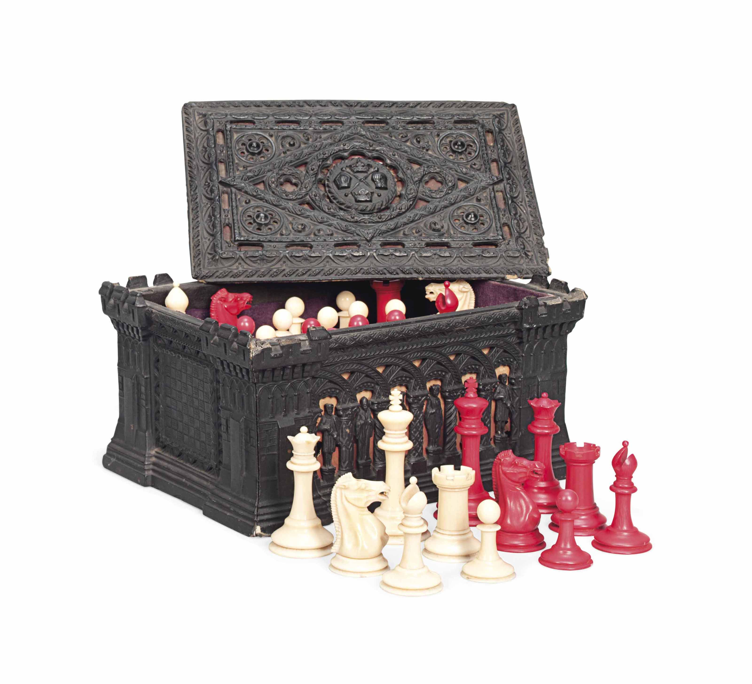 A JAQUES STAUNTON IVORY CHESS
