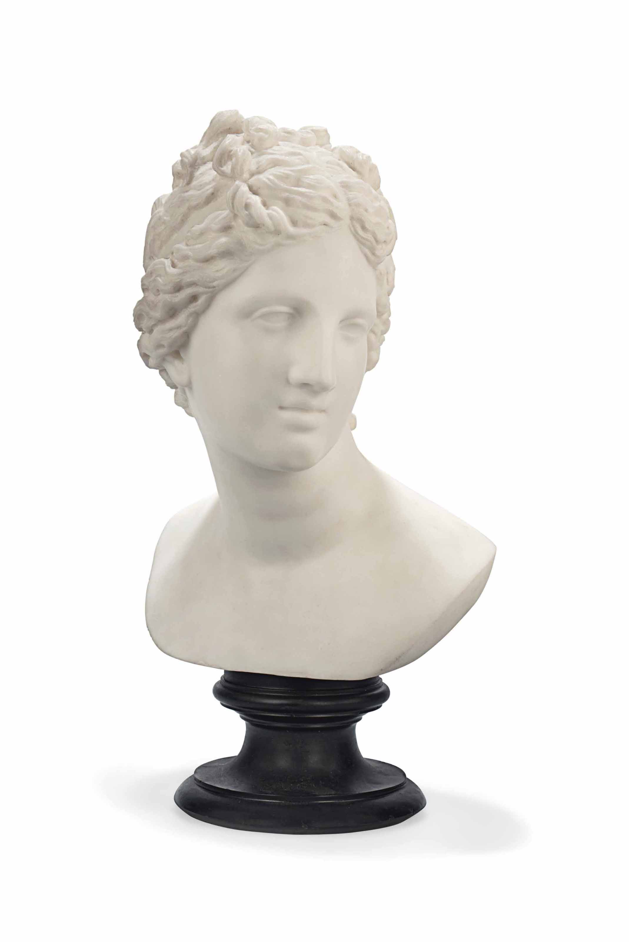 AN ITALIAN MARBLE BUST OF THE