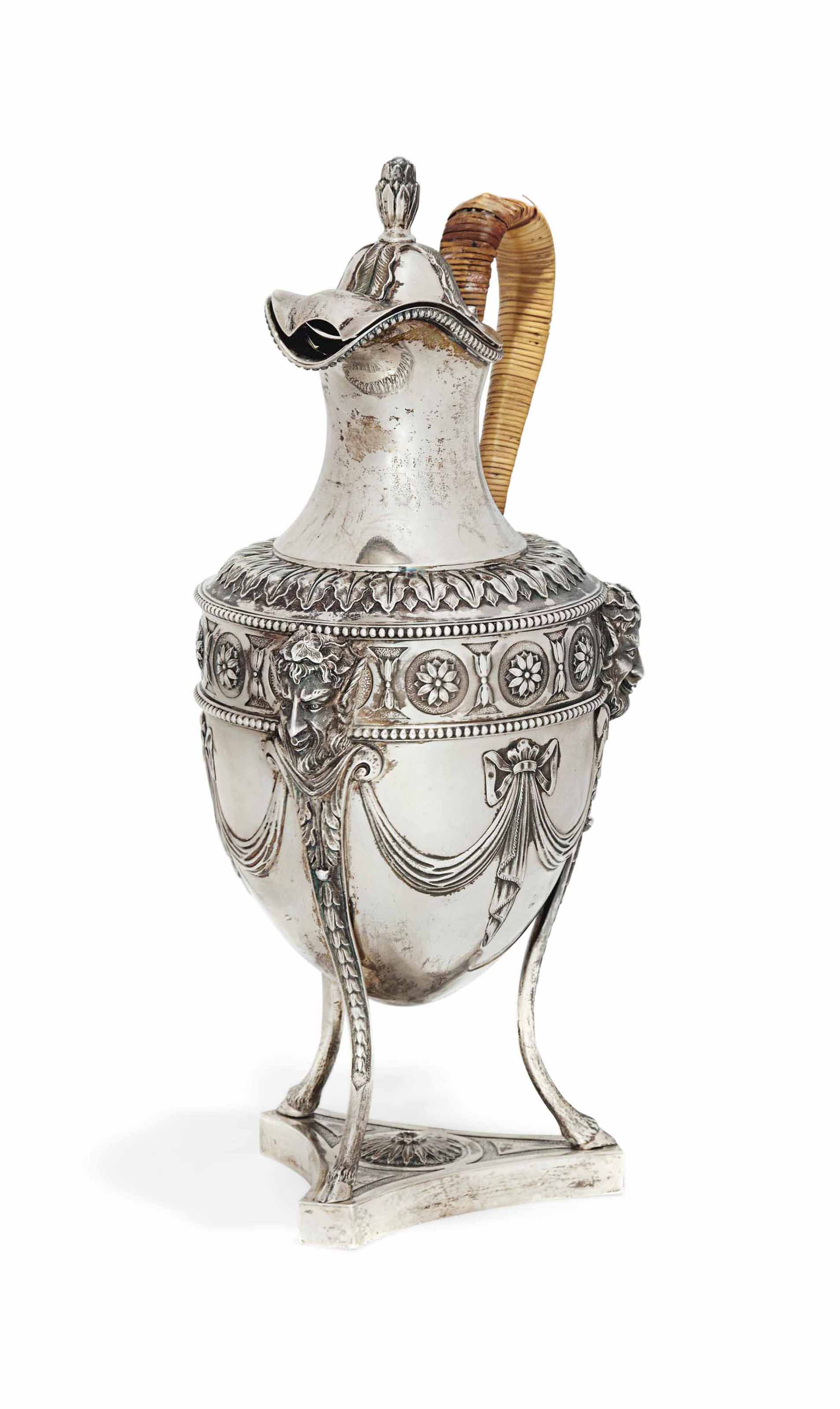 A LATE VICTORIAN SILVER EWER O