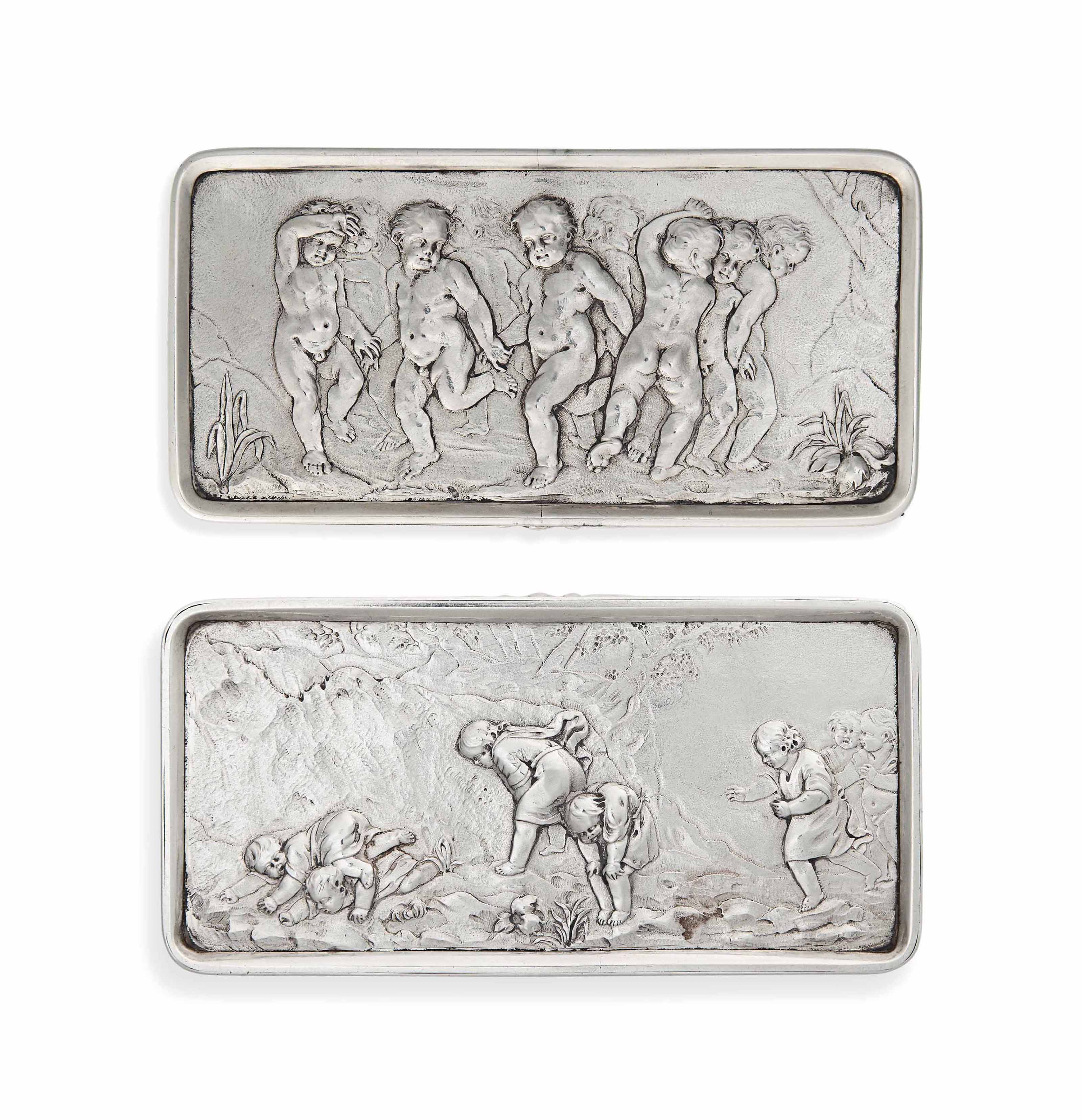 A GEORGE IV SILVER TABLE SNUFF