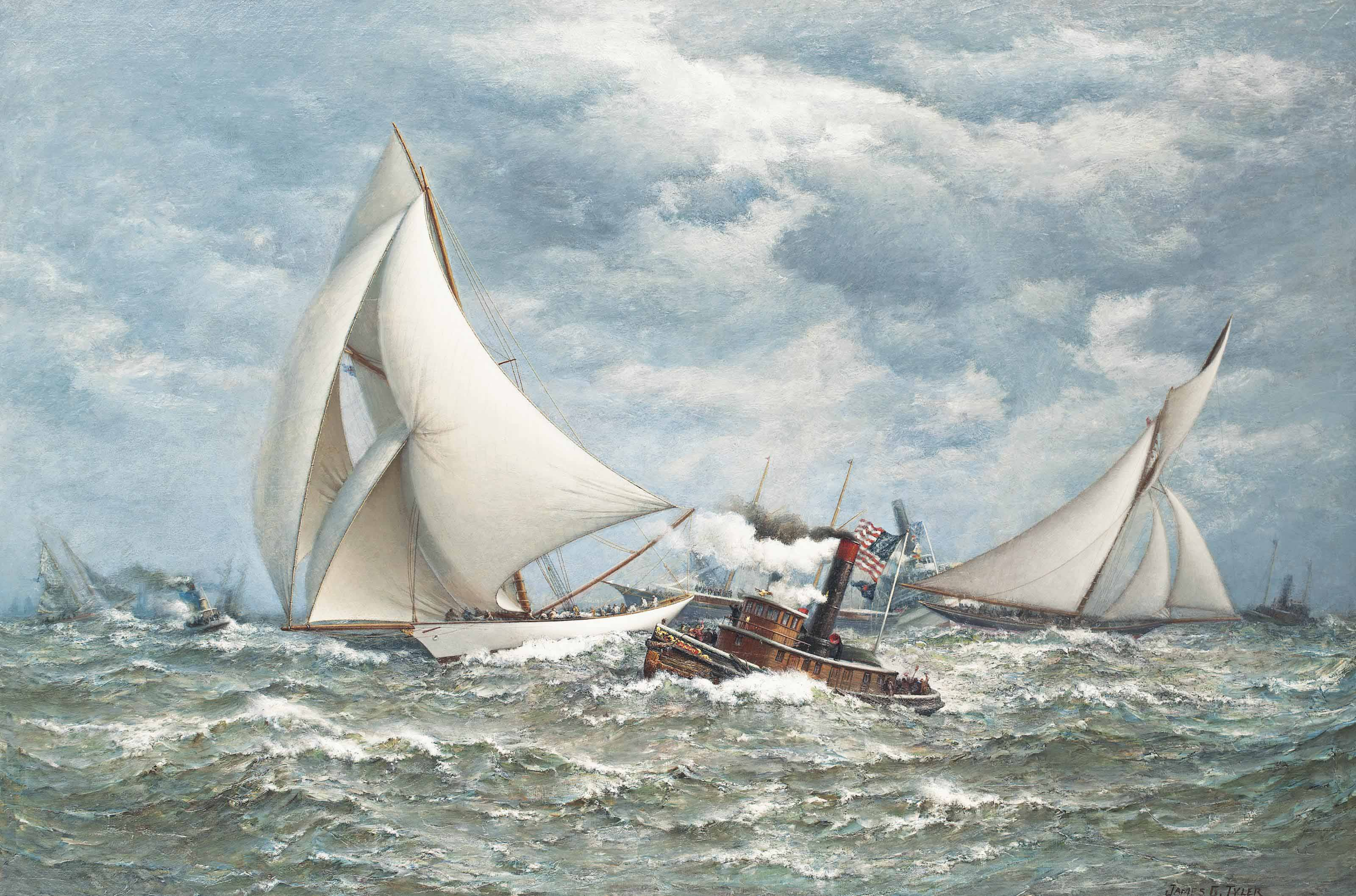'Twenty miles to windward':  The America's Cup, 1887, Volunteer versus Thistle