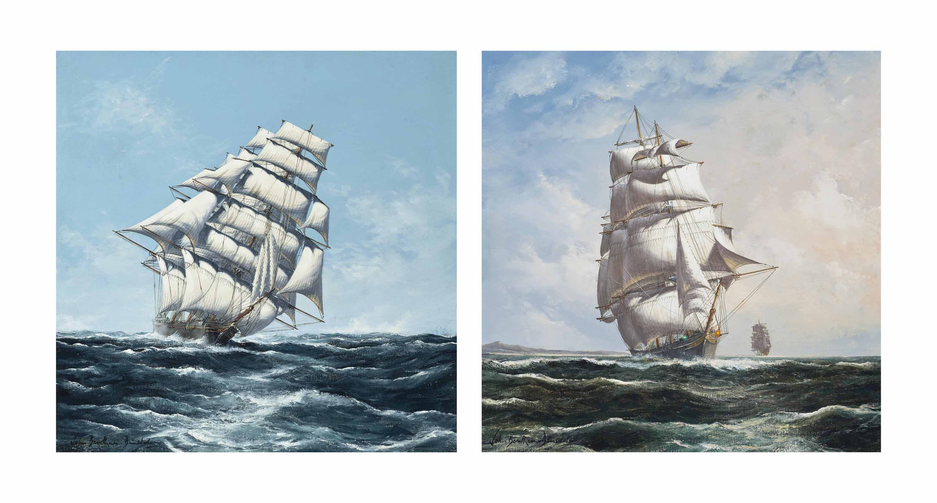 Ariel cracking along in an ocean breeze; and Taeping on the twilight watch (both illustrated)