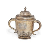 A WILLIAM III SILVER-GILT CUP & COVER