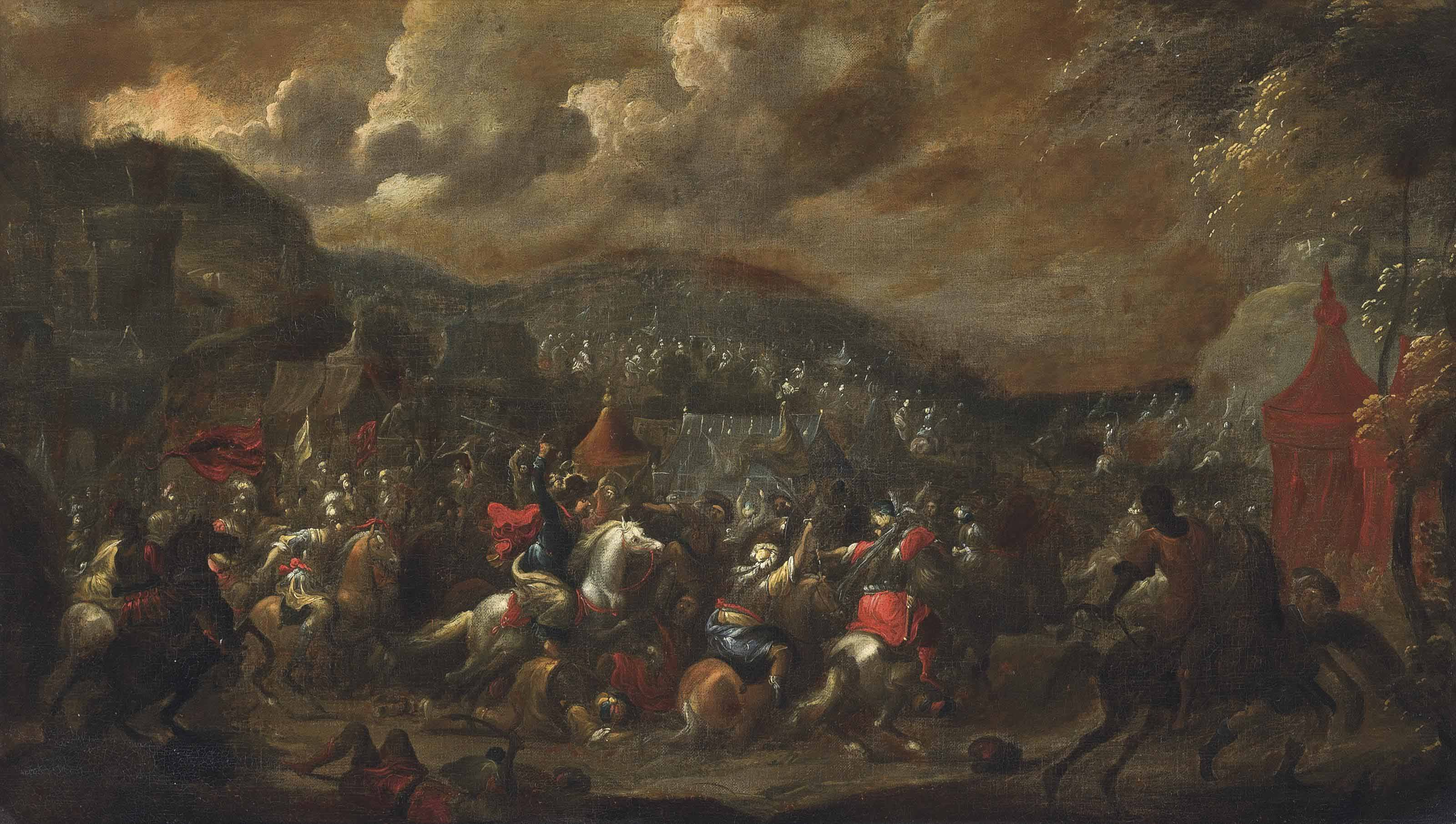 A cavalry skirmish