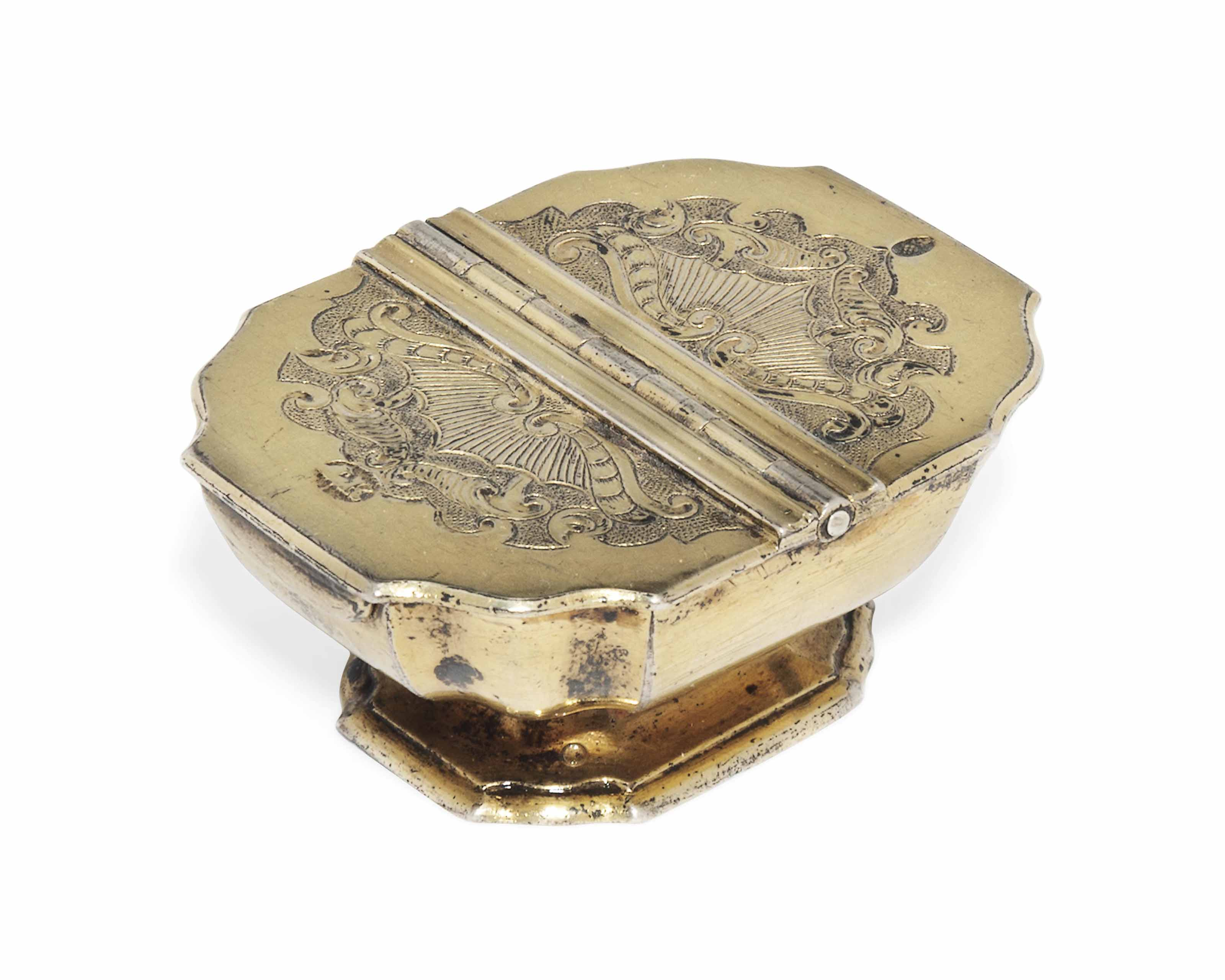 A german silver gilt rococo double lidded spice box from a for Kolb augsburg