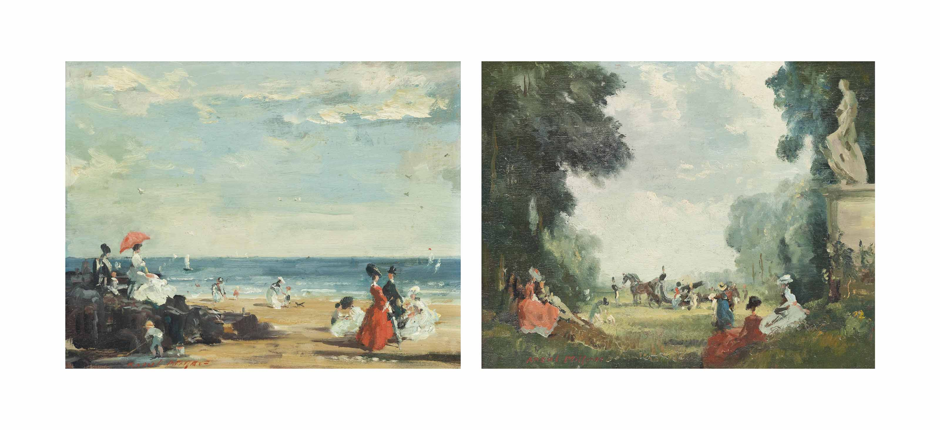 A day at the beach; and Fête champêtre