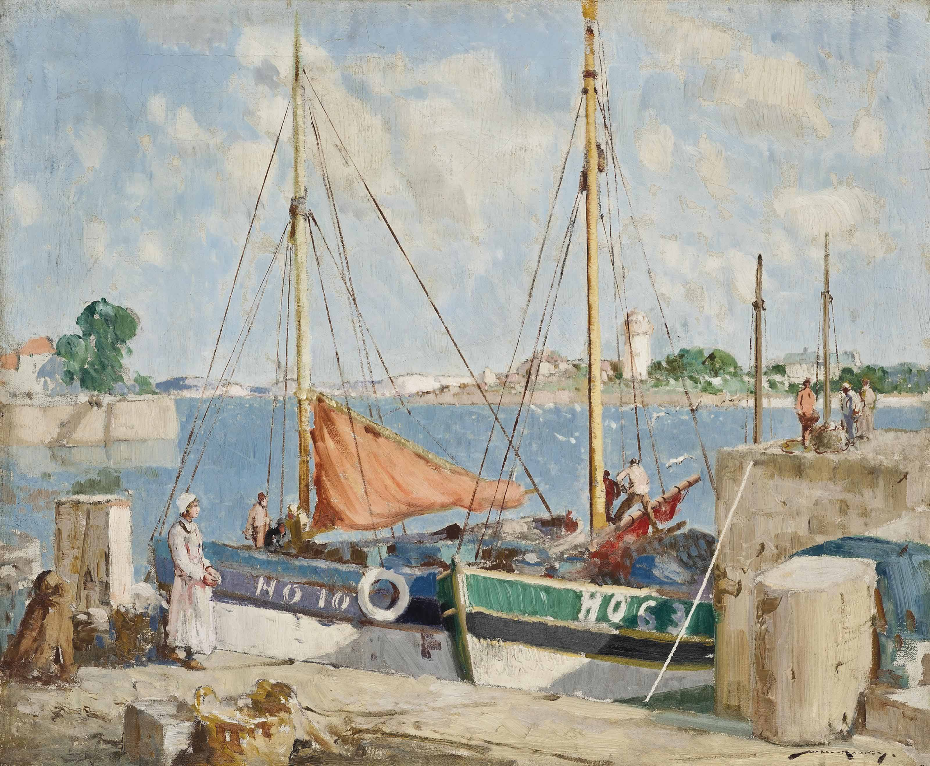 After the catch, Honfleur