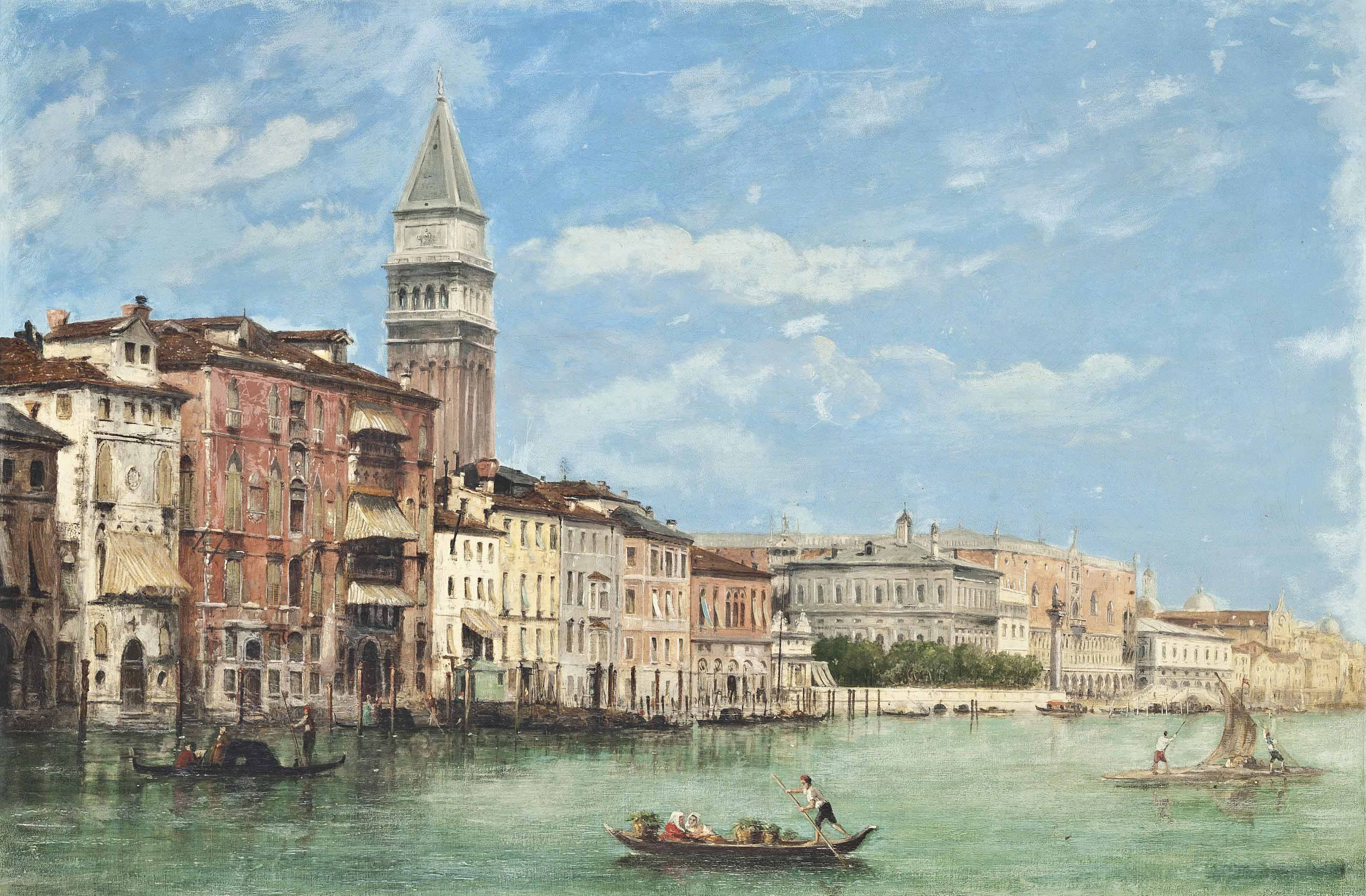 The Doge's Palace and the Campanile di San Marco, viewed from the Grand Canal