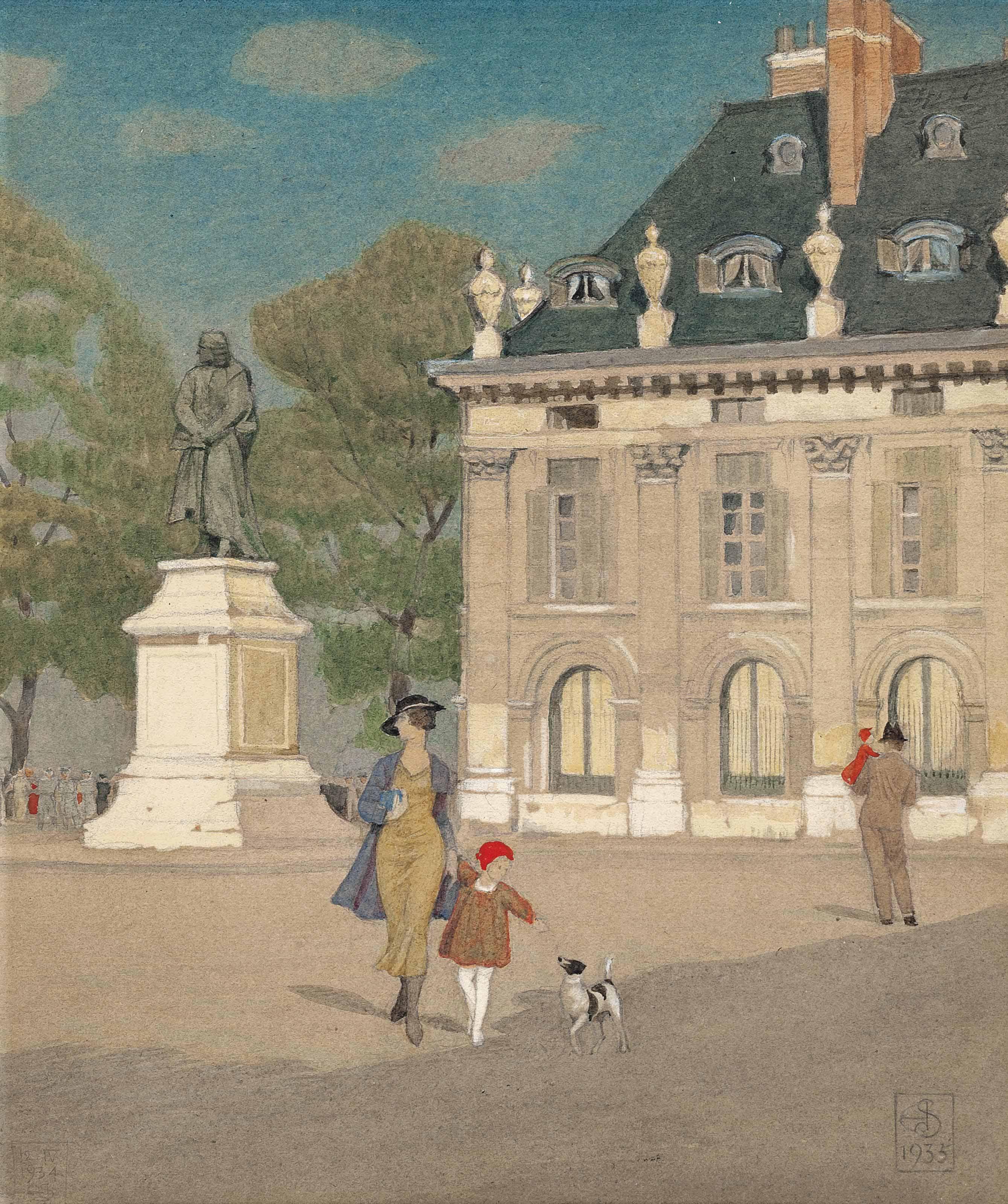 The Quai Voltaire, Paris