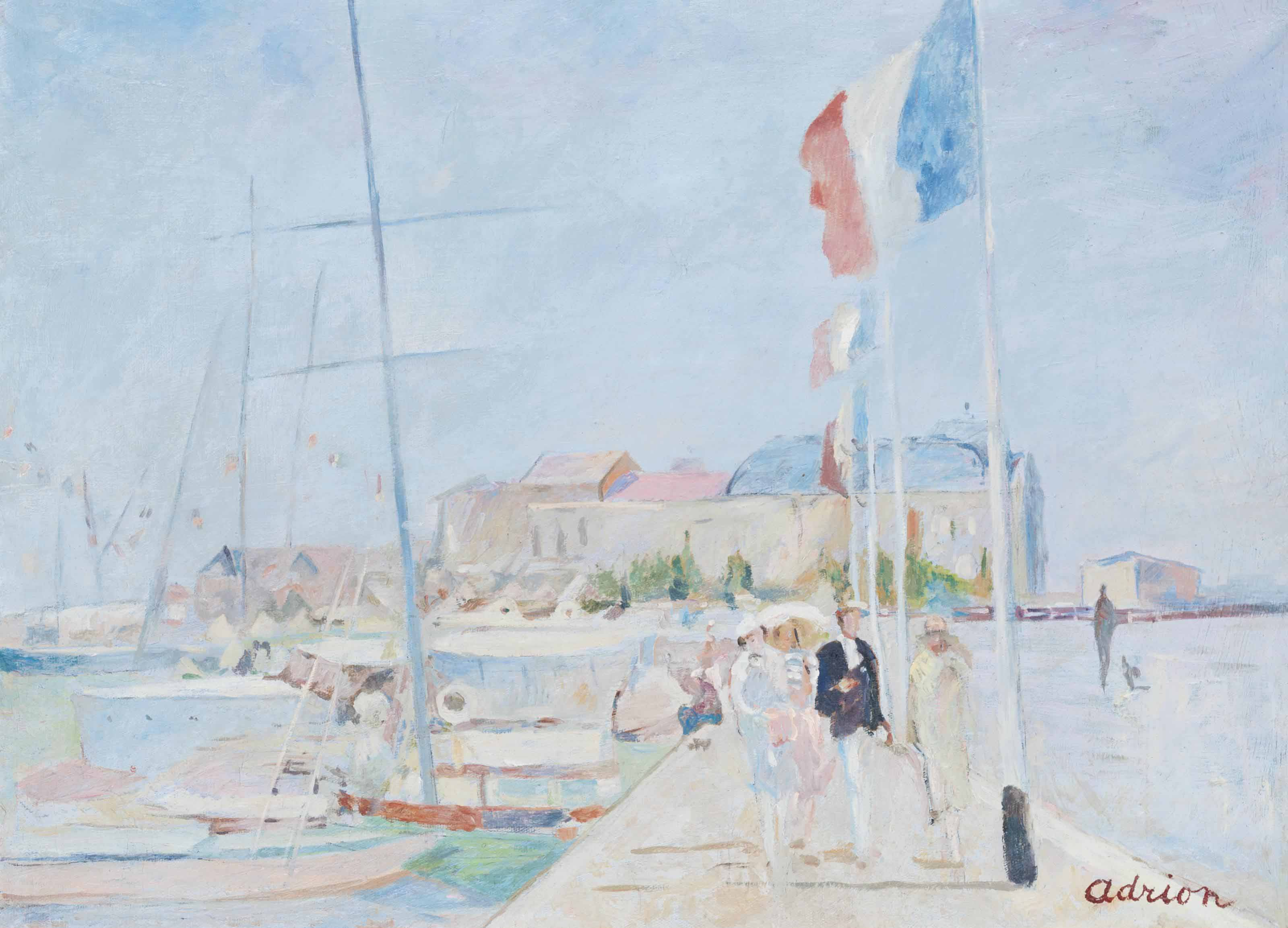 La jetée de Deauville, en fond Trouville