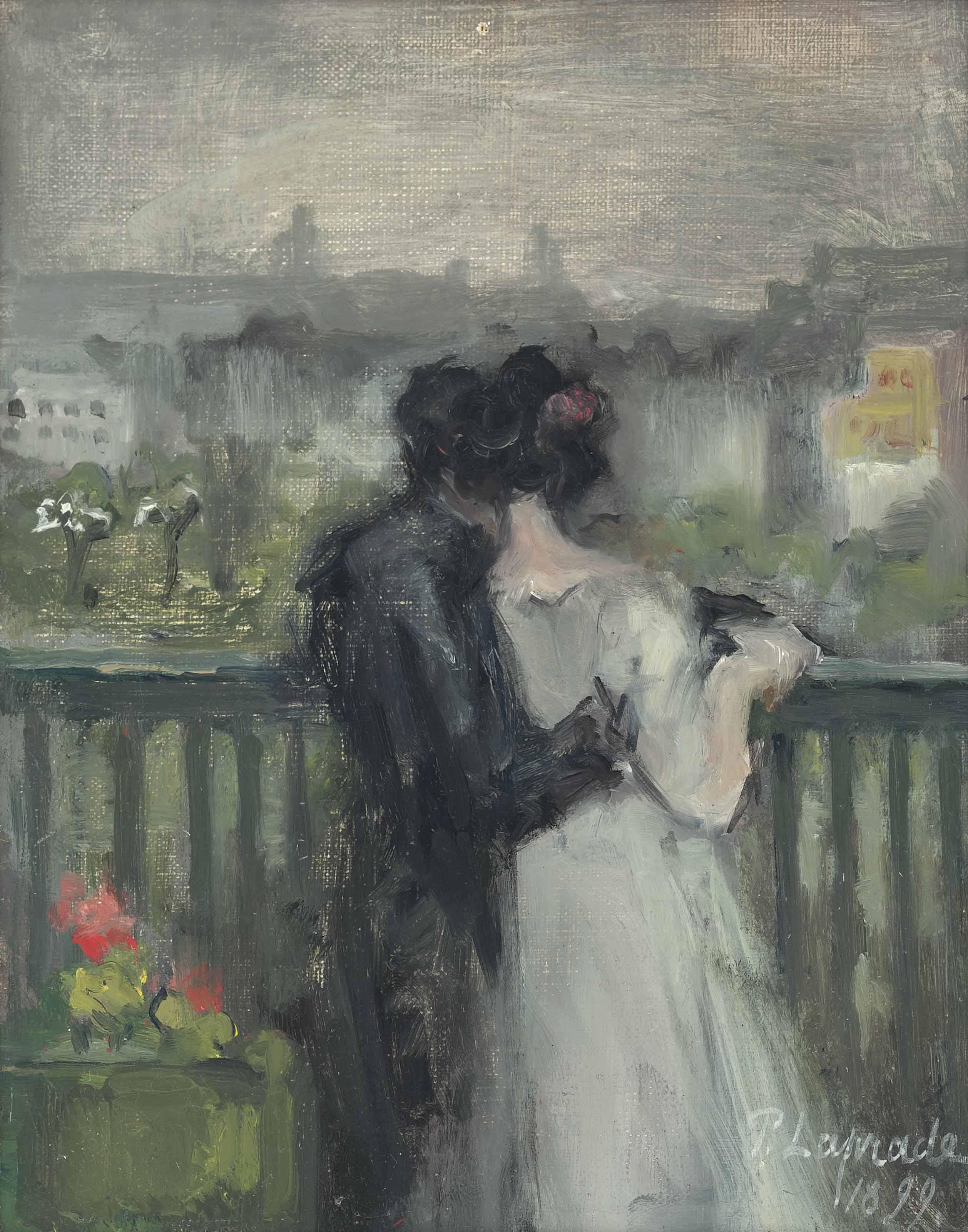Couple sur la terrasse