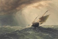 Fishing vessel in a squall