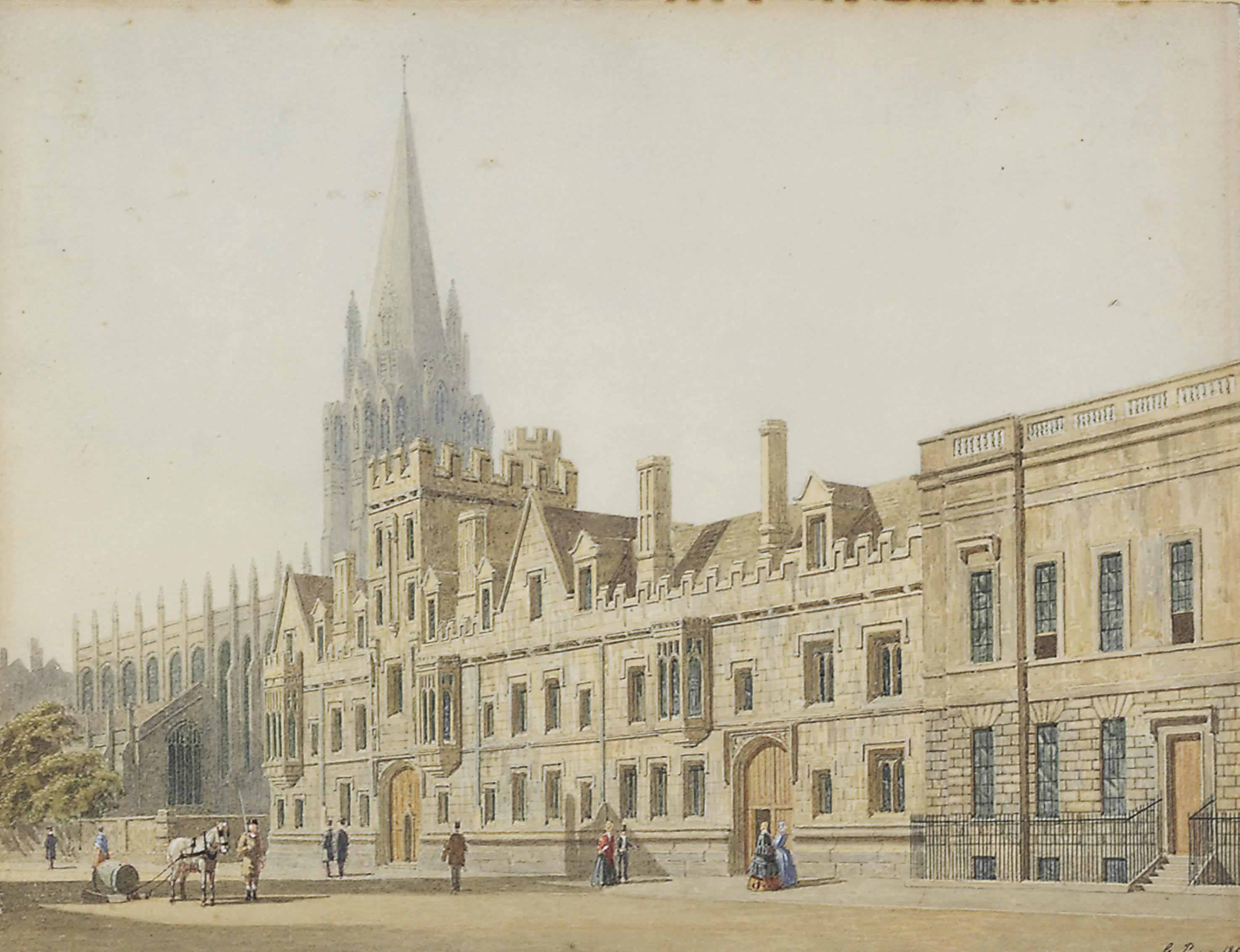 All Souls College and St Mary's Church, Oxford