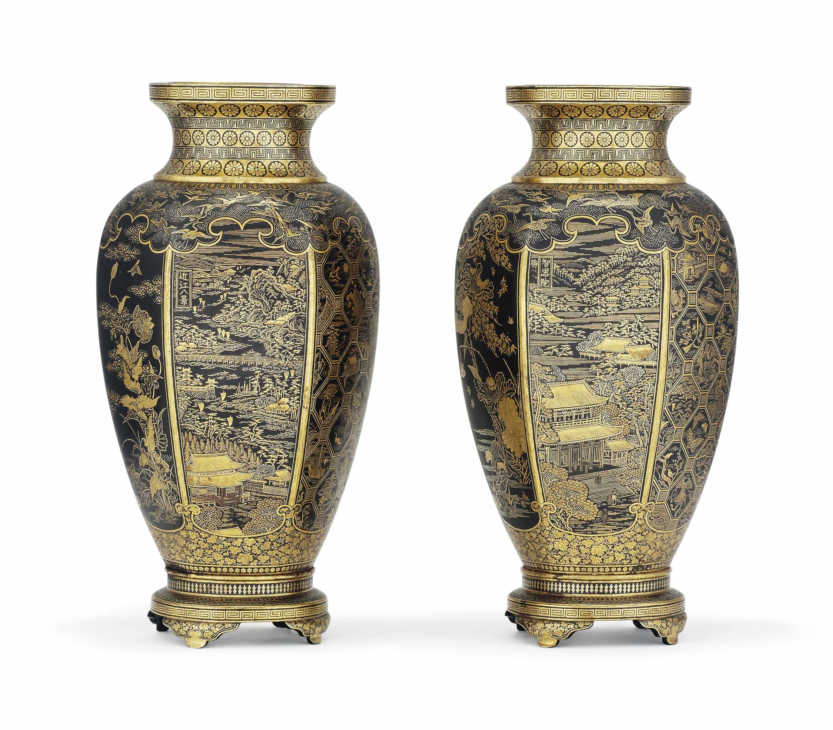 A Pair of Komai Vases