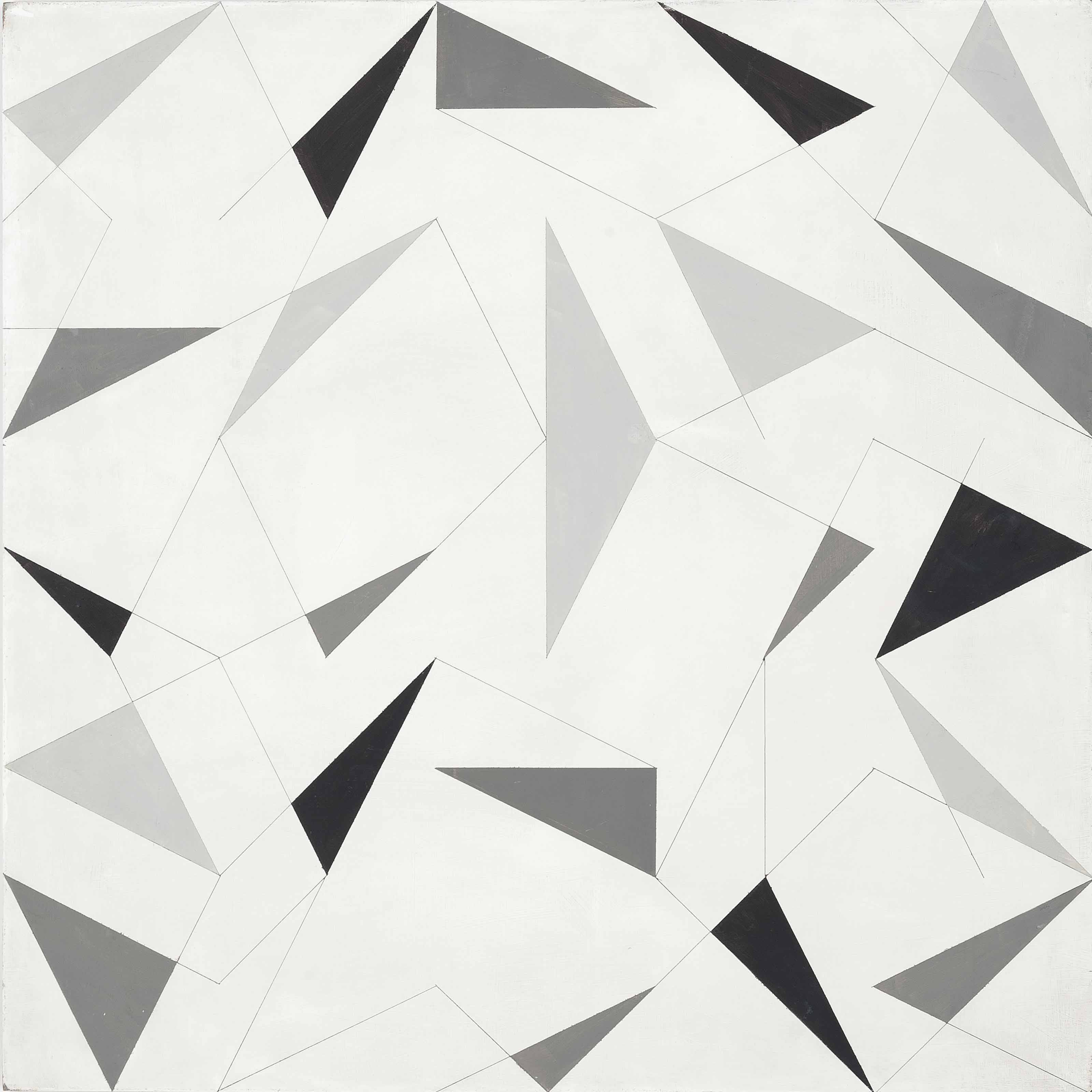Composition with Grey Triangles