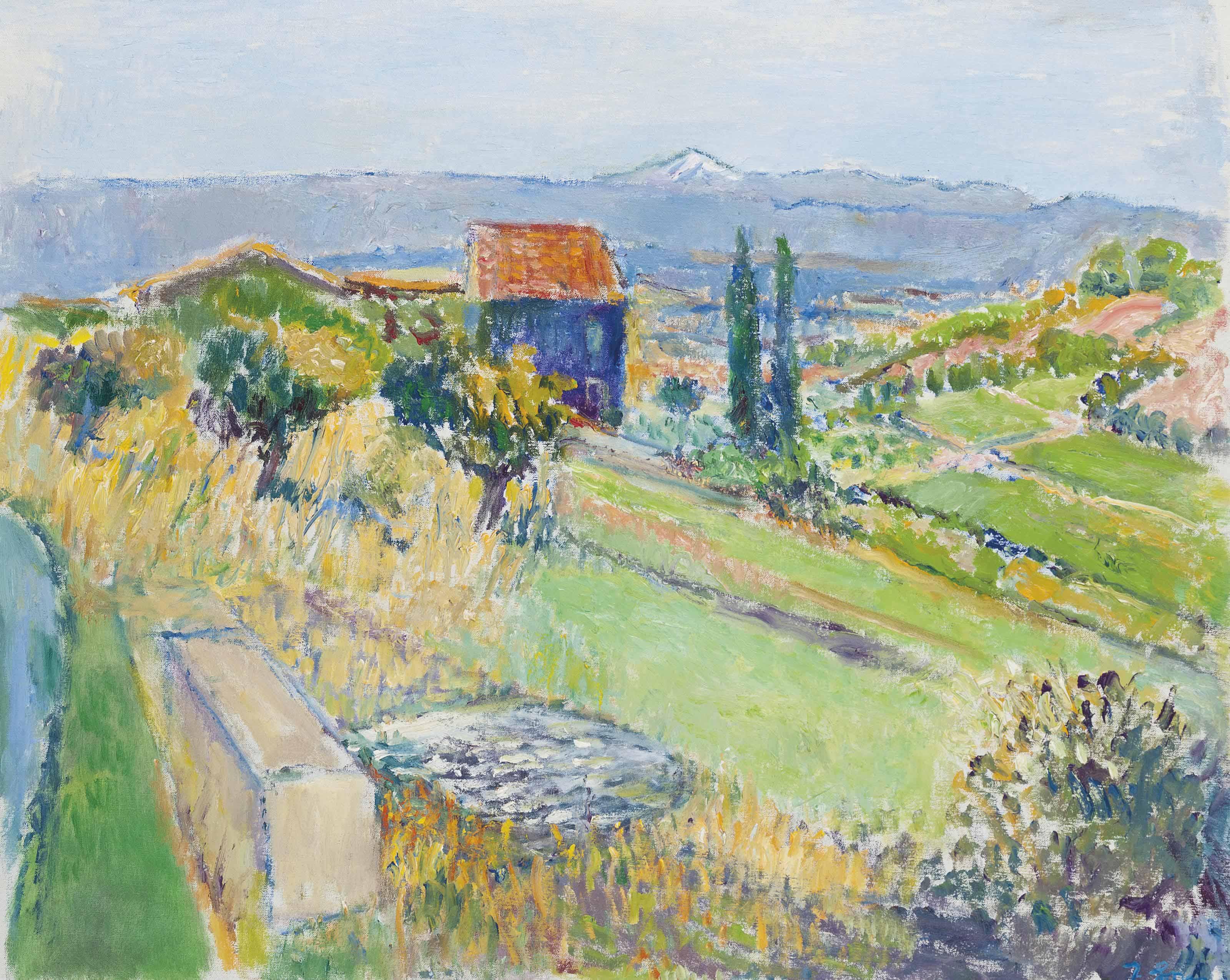 Vaucluse Landscape, looking towards Mont Ventoux