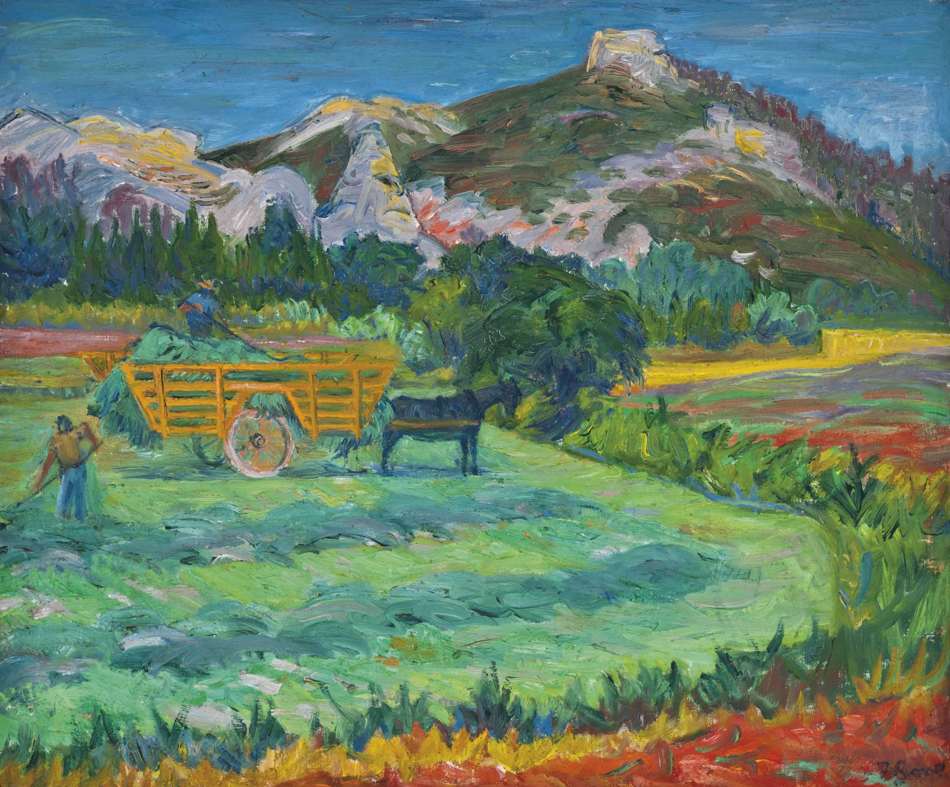 Haymaking, Mausanne, Provence
