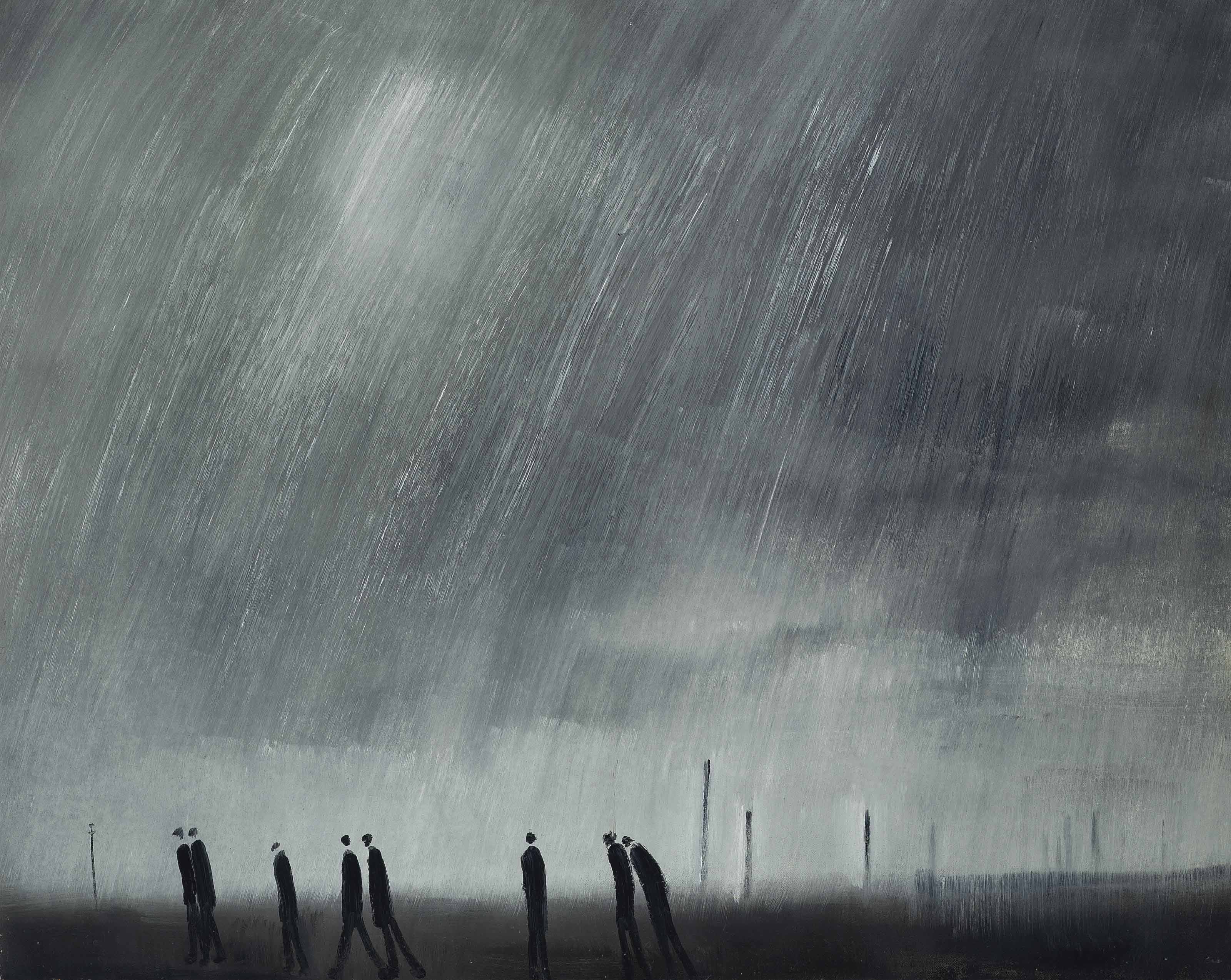 Eight Workmen in the Rain