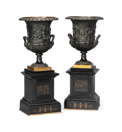 A PAIR OF FRENCH BRONZE CLASSI